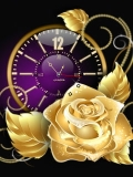 gold rose clock