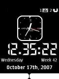 White Classic Clock