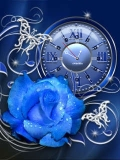blue rose clock