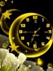 Animated Clock Moon Gold